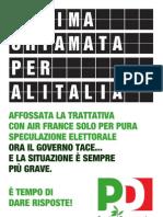 2008 Volantino Manifesto Alitalia
