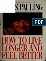 eBook How to Live Longer and Feel Better Linus Pauling