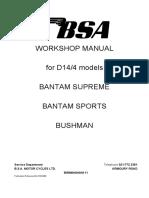 D14 Workshop Manual Section i. Introducation
