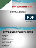Comparison Between States--- karataka and punjab