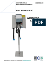 AZUD FBC 109T USER´S MANUAL