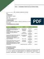 PROPUESTA ECONOMICA-ESTRUCTURAS