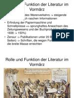 Rolle Und Funktion Der Literatur Im Vormärz