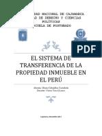 Sistema de Transferencia de Propiedad Inmueble en El Peru