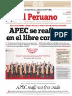 APEC Se Reafirma en El Libre Comercio