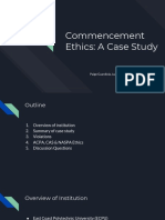 commencement ethics  a case study
