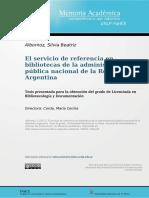 El Servicio de Referencia en Bibliotecas Públicas UNLP