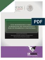 Guia Metodologica Diagnostico y Plan Comunitario v03