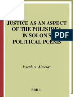 ! Justice as an Aspect of the Polis Idea in Solon's Political Poems j. a. Almeida