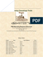 1889 Business Directory for the State of Wyoming