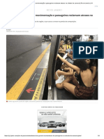 Metrô Do Rio Tem Intensa Movimentação e Passageiros Reclamam Atrasos No Sábado de Carnaval _ Rio de Janeiro _ G1