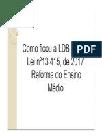 Nova legislaçῶao, Reforma no ensino médio.pdf