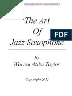 The Art of Jazz Saxophone Improvisation Sample