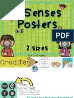 5 Senses Posters Freebie