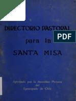 Directorio Pastoral Para La Santa Misa.chile