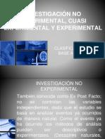 1.3 Inv. No Experimental,Cuasi y Experimental