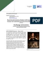 2010/2011 Israeli Artists Exchange Press Release