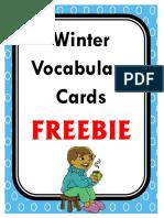 imagini iarna WinterVocabularyCardsFREEBIE