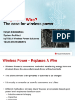 Why Not a Wire the Case for Wireless Power TI