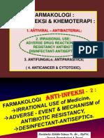 FARMAKOLOGI ANTI-InFEKSI - 2 Irrasional Use & Resistensi