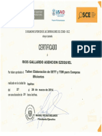 Certificado Tdr-compras Eficientes -Osce