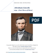 Abraham Lincoln - Martyr - [Part Three of Three]