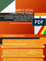 Marco Legal Constitucional Ley Municipal de Salud
