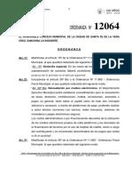 Ord 12064 Modif de Ord 11962-Ord Fiscal Municipal