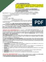 Cuadros de Acto Administrativo y Procedimiento