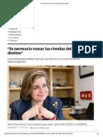 """""""Es Necesario Tomar Las Riendas Del Propio Destino"""""""