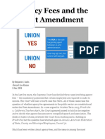 Agency Fees and the First Amendment