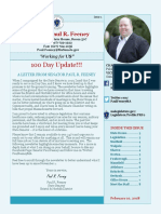 MA State Senator Feeney - 100 Days! Newsletter #1