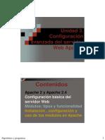 Unidad 3. Configuración Avanzada Del Servidor Web Apache