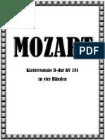 Mozart Klavier Sonate D-dur Zu Vier Händen