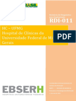 RDI-011 - Relatório de Diagnóstico Para Implantação - HCMG-UFMG