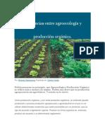 Diferencias Entre Agroecología y Producción Orgánica