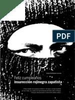 Feliz cumpleaños insurrección rojinegra zapatista