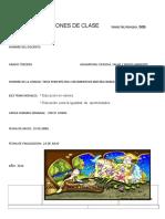 Guion de Clases 3º- p. II Ciencias