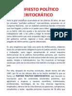 Manifiesto Político Meritocrático
