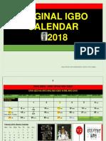 IGBO ORIGINAL CALENDER 2018