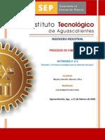 Actividad 1.4 Procesos Tecnológicos Para La Obtención Del Acero