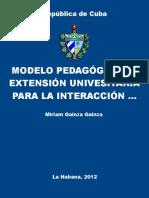 Modelo Pedagogico de Extension - Gainza Gainza, Miriam
