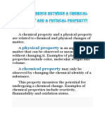 The Difference Between a Chemical Property and a Physical Property