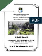 Programa i Congreso Nacional de Educación