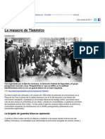 Documento sobre La Masacre de Tlatelolco