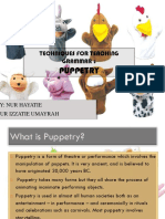 Techniques for Teaching Grammar (Puppets)