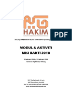 MIsi Bakti 2018 Module and Activities