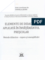 Elemente de Didactica Aplicata in Invatamantul Prescolar