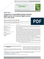 Comparison of Repeatability Between Intraoral Digital Scanner and Extraoral Digital Scanner an Invitro Study.