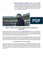 Gattuso Target Lengserkan Sampdoria Dan Atalanta Dari Klasemen